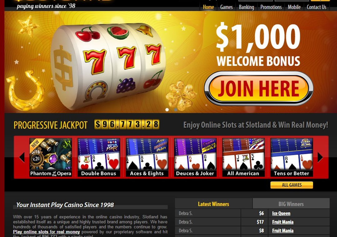 Slotland Casino Online Casino Slots Compared To Land Based Casino Slots